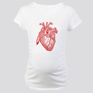 Anatomical Heart - Red Maternity T-Shirt