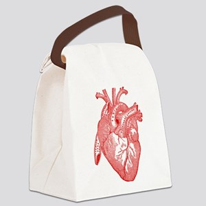 Anatomical Heart - Red Canvas Lunch Bag