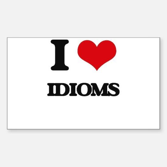 I Love Idioms Decal
