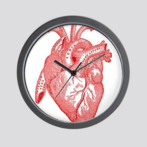 Anatomical Heart - Red Wall Clock