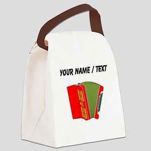 Custom Red Accordion Canvas Lunch Bag