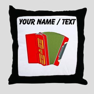 Custom Red Accordion Throw Pillow