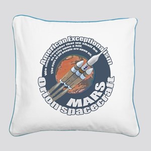 Orion Spacecraft 2 Square Canvas Pillow
