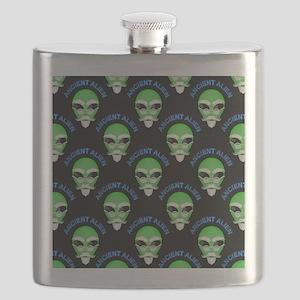 Ancient Alien Head Pattern Flask