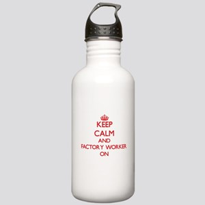 Keep Calm and Factory Stainless Water Bottle 1.0L