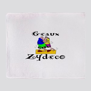 Geaux Zydeco Throw Blanket