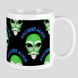 Ancient Alien Head Pattern Mugs