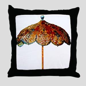 Iron Umbrella Throw Pillow