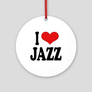 I Love Jazz Ornament (Round)