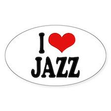 I Love Jazz Oval Sticker