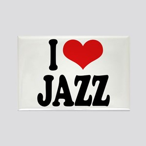 I Love Jazz Rectangle Magnet (10 pack)