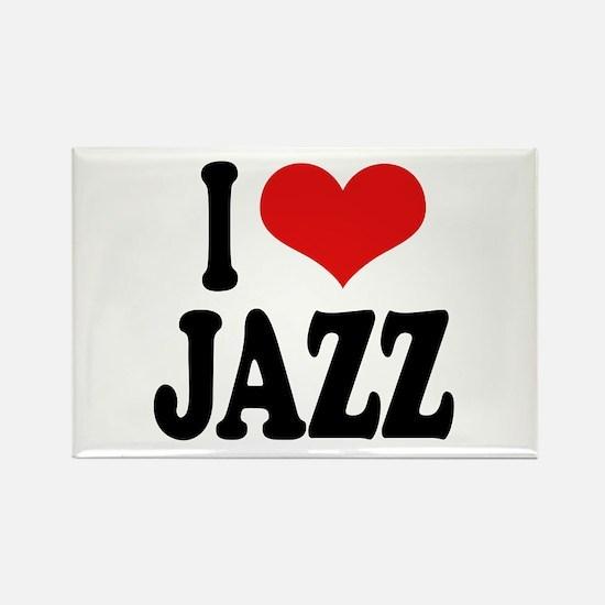 I Love Jazz Rectangle Magnet (10 pack)