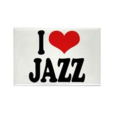 I Love Jazz Rectangle Magnet