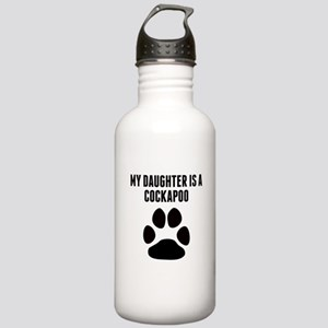My Daughter Is A Cockapoo Water Bottle