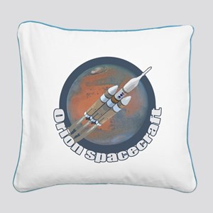Orion Spacecraft 3 Square Canvas Pillow