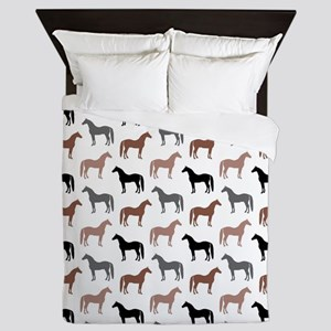 Elegant Horse Pattern Queen Duvet