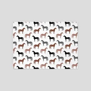 Elegant Horse Pattern 5'x7'Area Rug