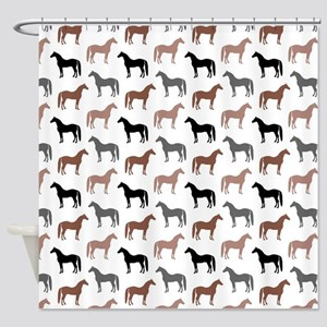 Elegant Horse Pattern Shower Curtain