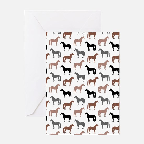 Elegant Horse Pattern Greeting Cards