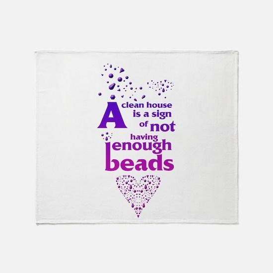 Not having enough beads Throw Blanket