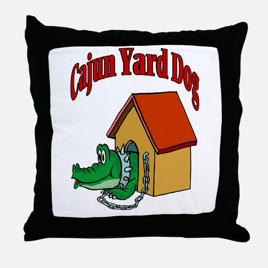 Cajun Yard Dog Throw Pillow