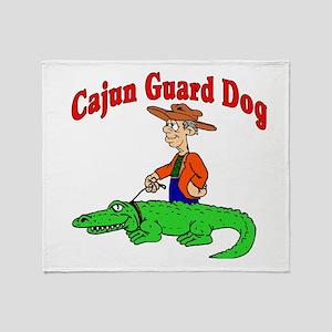 cajun guard dog Throw Blanket