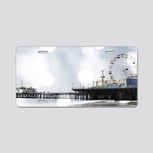 Grey Sparkling Pier Aluminum License Plate