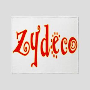 Zydeco Music Throw Blanket