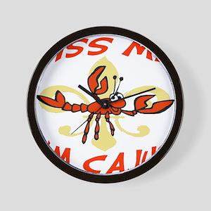 Kiss Me Cajun Wall Clock