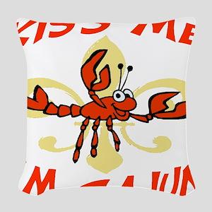 Kiss Me Cajun Woven Throw Pillow