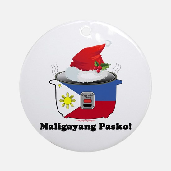 Pinoy Rice Cooker - Pasko Ornament (Round)