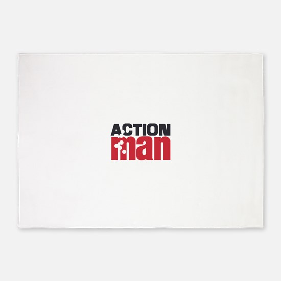 Action Man 5'x7'Area Rug