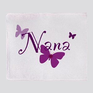 Nana Butterflys Throw Blanket