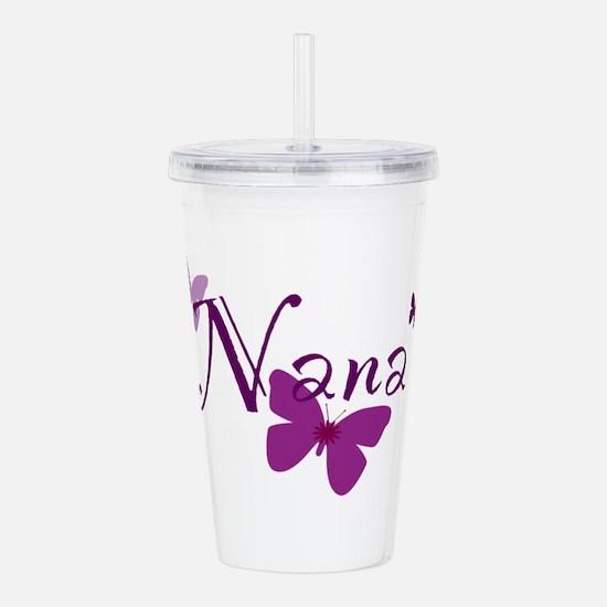 Nana Butterflys Acrylic Double-wall Tumbler