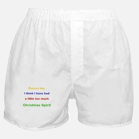Excuse me Christmas Spirit Boxer Shorts