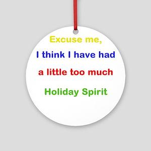 Holiday Spirit Ornament (Round)