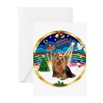 XmasMusic3/Yorkie #7 Greeting Cards (Pk of 10)