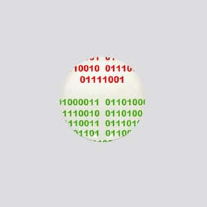 Merry Christmas in Binary Mini Button