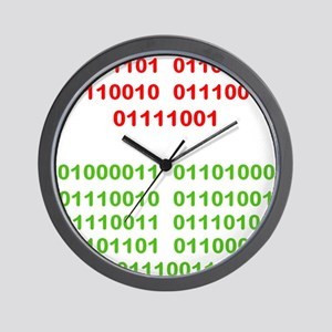 Merry Christmas in Binary Wall Clock