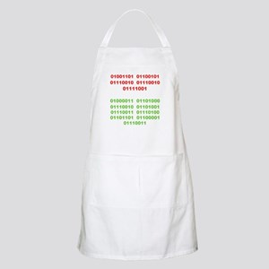 Merry Christmas in Binary Apron