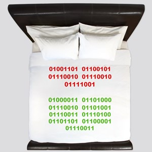 Merry Christmas in Binary King Duvet