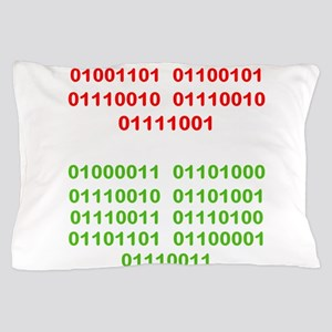 Merry Christmas in Binary Pillow Case