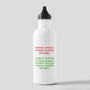 Merry Christmas in Binary Water Bottle