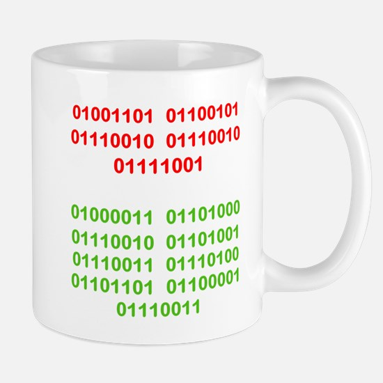 Merry Christmas in Binary Mugs
