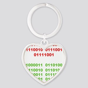 Merry Christmas in Binary Keychains
