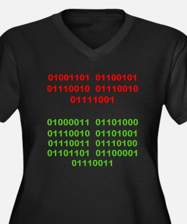 Merry Christmas in Binary Plus Size T-Shirt