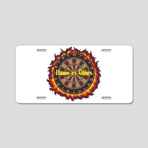 Personalized Darts Player Aluminum License Plate