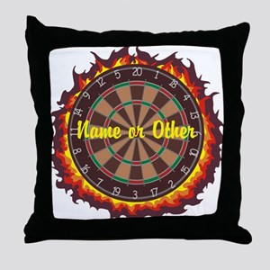 Personalized Darts Player Throw Pillow