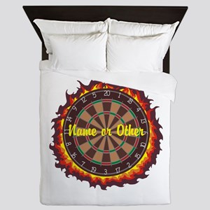 Personalized Darts Player Queen Duvet
