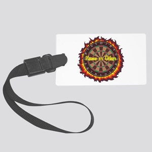 Personalized Darts Player Luggage Tag